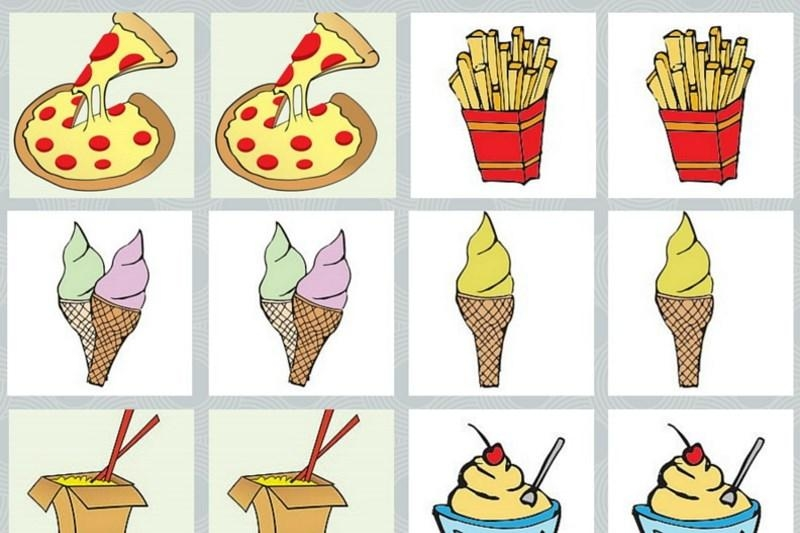 Fast food - Memory game free printables