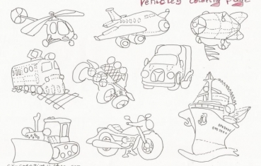 Vehicles Coloring Pages Creative Kitchen - Automobile-coloring-pages