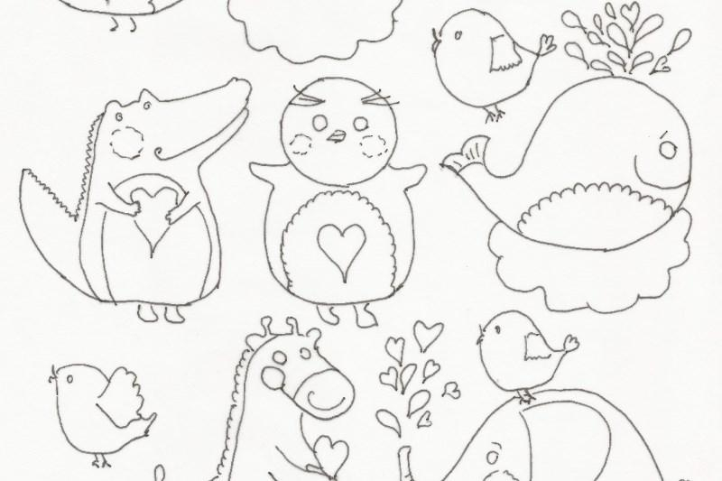 Celebration coloring page