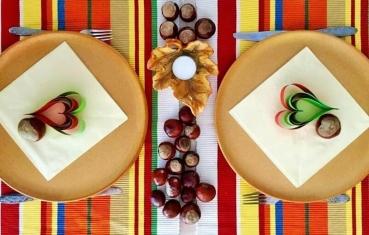 Chestnut table decoration