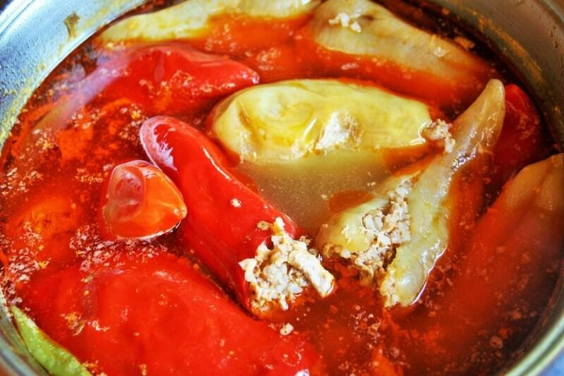 Hungarian stuffed pepper