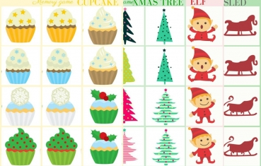 Christmas - Memory game free printable