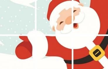 Santa - Preschoolers Puzzle Free Printable