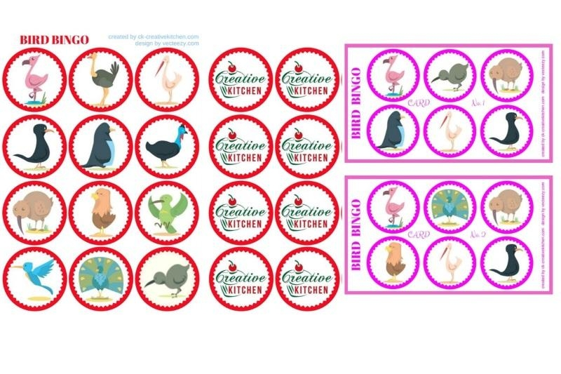 Bird - Bingo card free printables