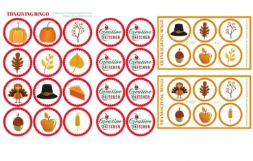 Thanksgiving - Bingo card free printables