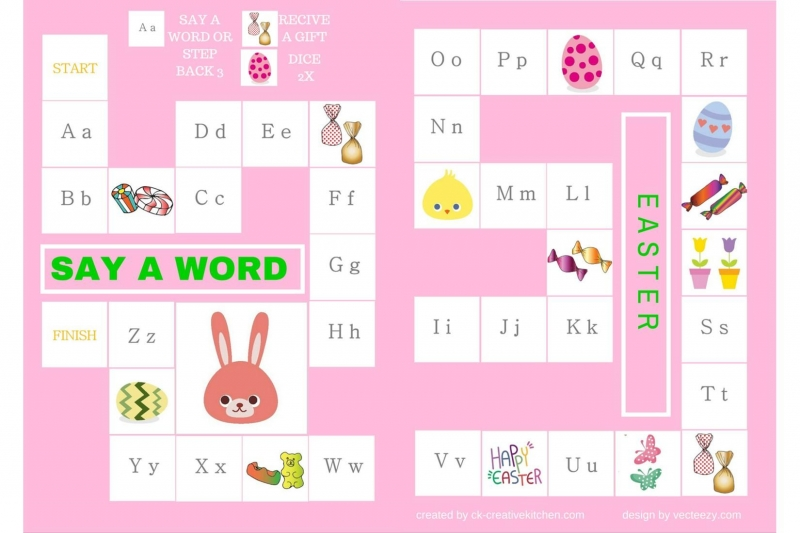 Easter - Alphabet board game