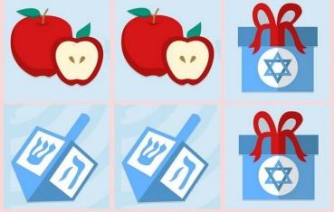 Hanukkah and Shana Tova - Memory game free printable