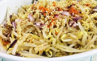 Korean mung bean sprout salad