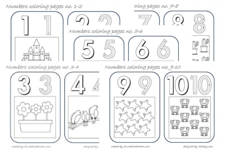 common worksheets free printable number coloring pages numbers coloring pages creative kitchen