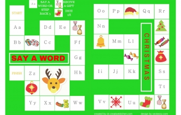 Christmas - Alphabet board game free printable