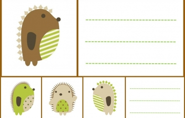 Hedgehog - School labels free printable