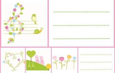 Spring - School labels free printable