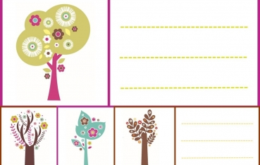 Tree - School labels free printable