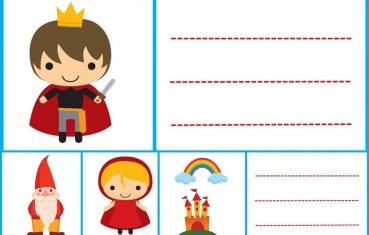 Tale - School labels free printable