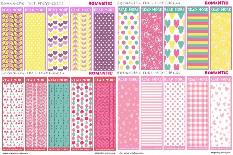 Romantic bookmark - Free printables