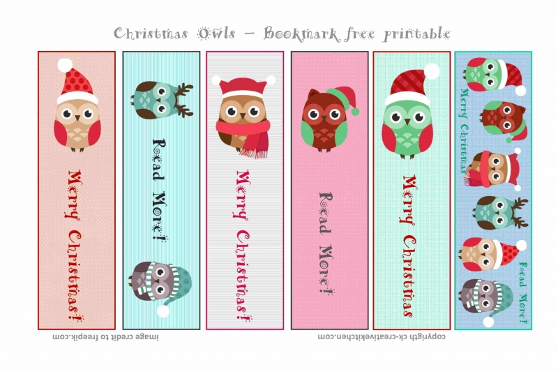 image about Cute Printable Bookmarks referred to as Xmas Owls Bookmark - Cost-free printables - Innovative Kitchen area