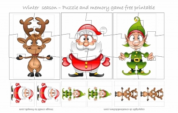 Winter Season Puzzle - Free printable