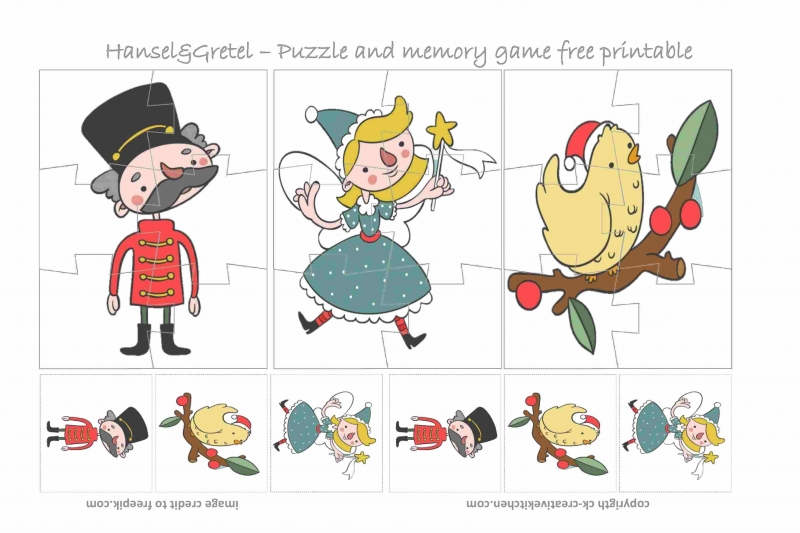 Hansel & Gretel Puzzle - Free Printable