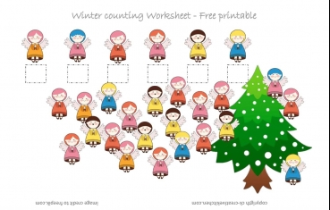 Angels Counting Worksheet - Free Printable
