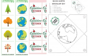 Save the Earth - Memory game free printable