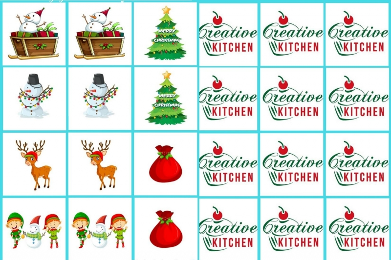 Merry Christmas - Memory game free printable