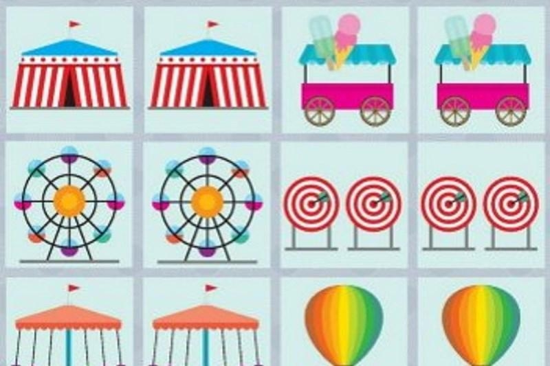 Circus and park - Memory game free printables