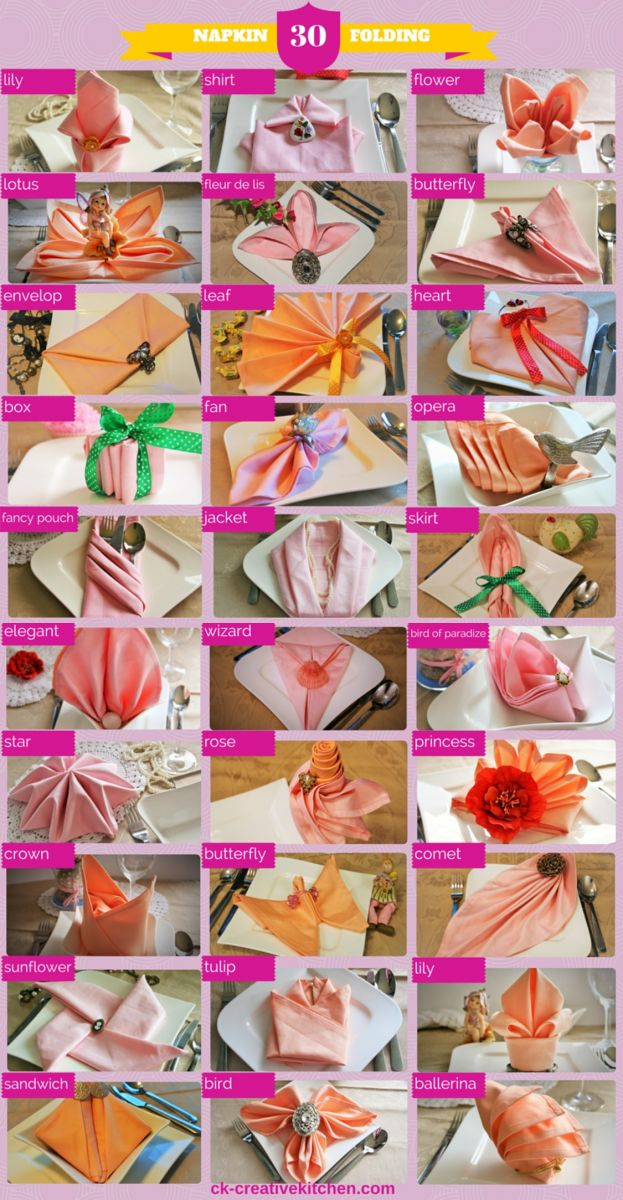 napkin folding, table decoration