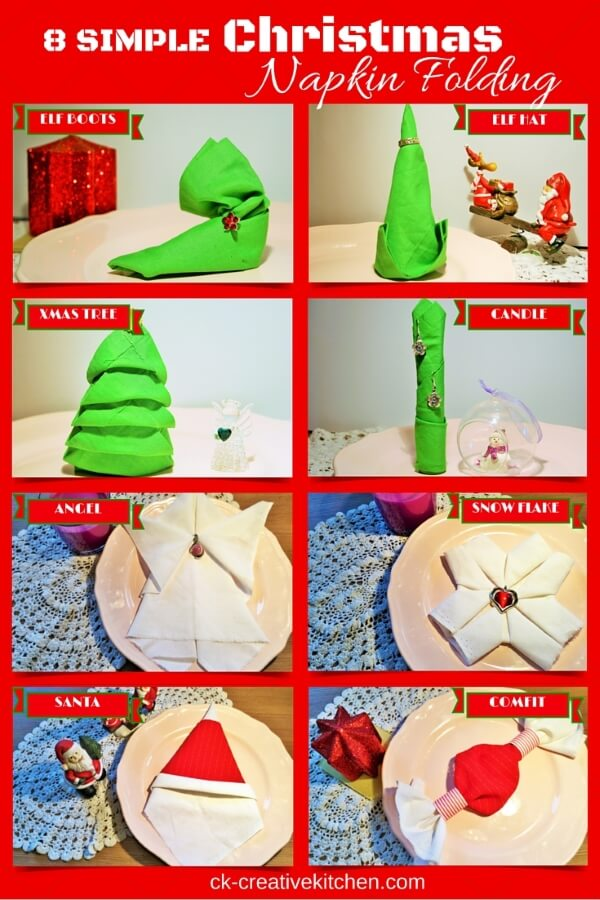 napkin folding christmas and santa