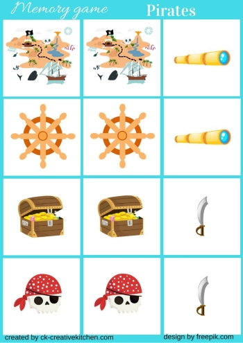 Pirates Memory Game Free Printable Creative Kitchen