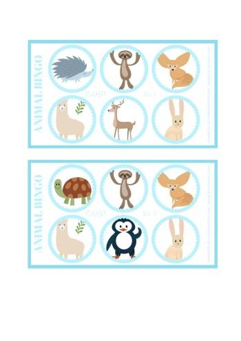 image relating to Animal Bingo Printable named Pets - Bingo card totally free printable - Imaginative Kitchen area