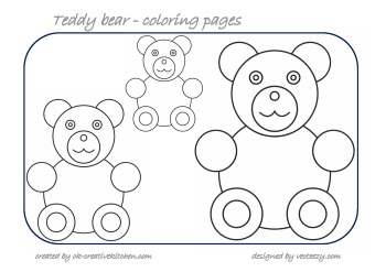 bear counting coloring pages