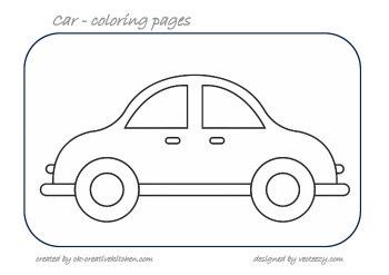 car cunting coloring pages