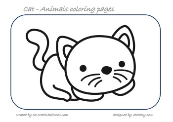 cat animals coloring pages