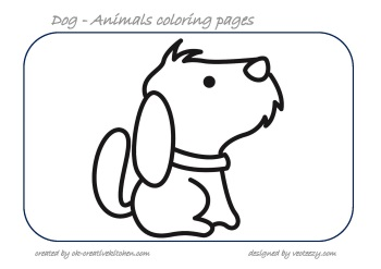 dog animals coloring pages