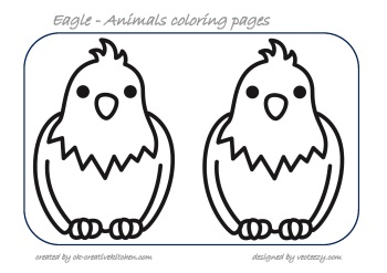 eagle animals coloring pages