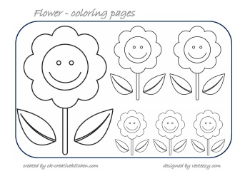 flower counting coloring pages