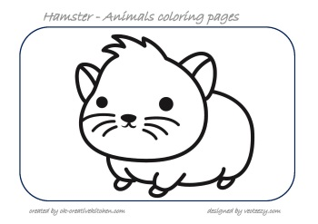 Animals coloring pages - Creative Kitchen