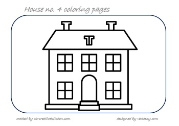 House coloring pages - Creative Kitchen
