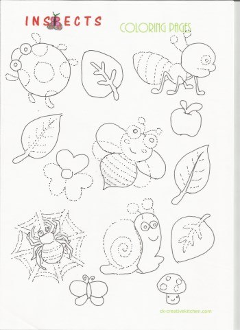 Insects Coloring Pages Creative Kitchen