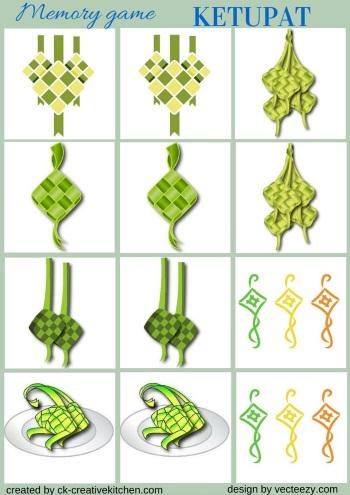 Boho Hamsa And Ketupat Memory Game Free Printables