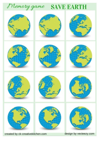 save the earth, memory game, matching game, planet