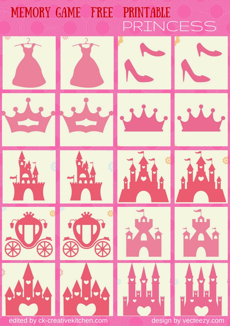 Uncategorized Princess Memory Game tale memory game free printables creative kitchen princess matching printable