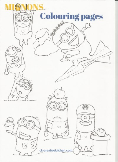 minions coloring pages free printables
