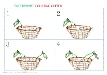 numbers card fingerprint cherry free printable