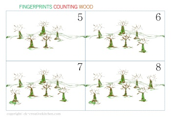 numbers card fingerprint wood free printable