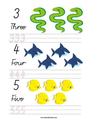 Ocean and Sea animals Numbers