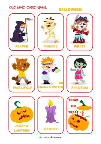 Halloween Old Maid Cards Free