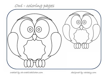 owl counting coloring pages
