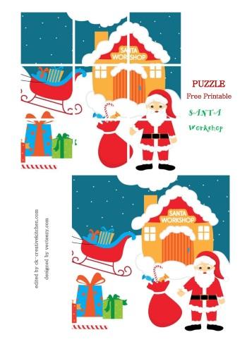 Santa Preschoolers Puzzle Free Printable Creative Kitchen
