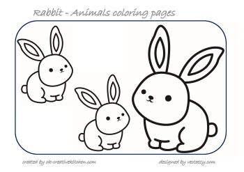 rabbit animals coloring pages